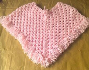 CROCHET PATTERN, Baby Poncho, Childs Poncho, Crochet Poncho,  Traditional Poncho, Crochet Cape, Double Knit Poncho, Easy Crochet Cape