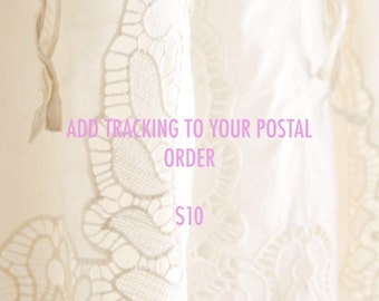 Add Tracking Number To Your Postal Order