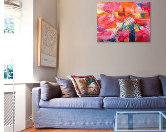 Colorful abstract wall art Painting. Colorful art. Interior art. Wall art. Abstract art painting.  Original Painting. Interior Desian art.