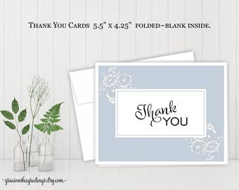 Thank You Cards | Notes | Stationery | Personalized Thank You Cards | Birthday | Bridal | Baby Shower | Printable TY609