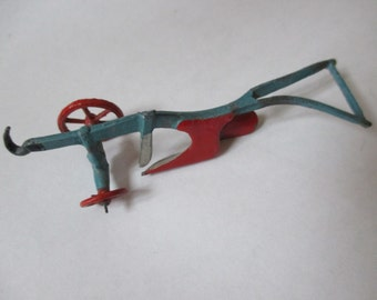 Vintage all metal toy plow farm equipment collectible farm made in England