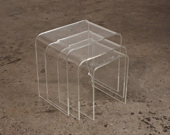 3 Lucite Nesting Tables
