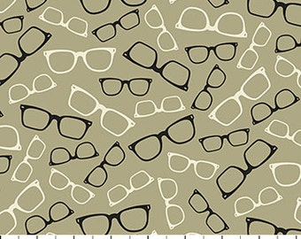 Hipster on the Go, Glasses 21319 34 Taupe by Northcott Studio