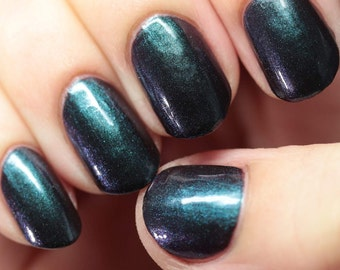 Multichrome Emerald and Ruby Nail Polish, Green/Red Color Shifting - Scarab Crow  - Multichrome Nail Polish