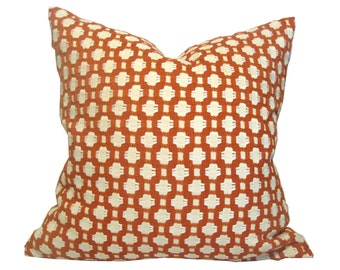 Designer Pillow Cover Schumacher Betwist Single Sided in Colorway Spark