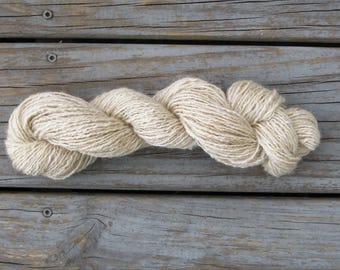 Suri Alpaca and Wool Yarn, Naturally Colored Hand Spun Yarn, DK Weight, 70 Percent Alpaca and 30 Percent Wool, Soft Elegant Yarn.