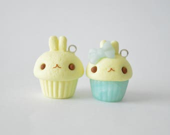 Kawaii Polymer Clay Molang Cupcake Charms - Kawaii Polymer Clay Charms
