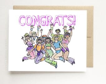 80s Fever Card, Congrats, Graduation Card, Congratulations Card, Funny Graduation Card, Congrats Grad, Congrats Card, Congratulations Card