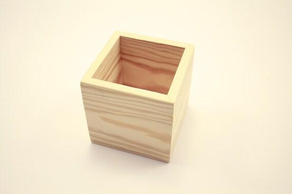 Wooden box unfinished x wedding centerpiece flower