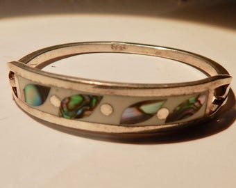 """Mexican Baby's 925 and Turquoise Bracelet, exquisite, about 3""""  Must see"""