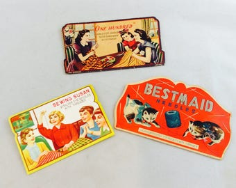 Vintage Sewing Needle Packets / Vintage Sewing Needle Holders