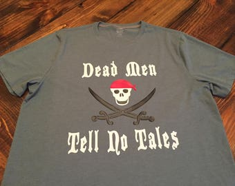 """ADULT-Disney Pirate's of the Carribean Shirt """"Dead Men Tell No Tales"""""""