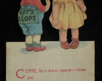 Vintage Stand-up Die Cut Valentine