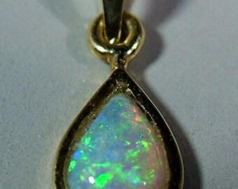Vintage 14 Kt Opal Pendant Circa 1960