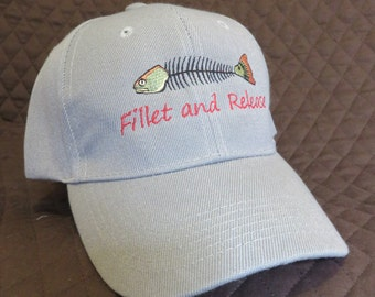 Ball Cap, Fillet and Release Redfish