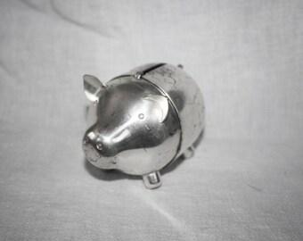 Vintage Napier Silverplate Piggy Bank