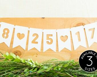 Custom Wedding Banner, Custom Wedding Date, Custom Date, Wedding Signs, Personalized Banner, Bridal Shower Banner, Wedding Decoration