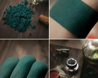 Eyeshadow: Master of Poison- Dark Castle. Dark teal matte eyeshadow by SIGIL inspired.