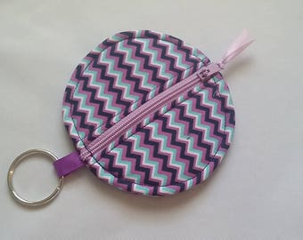 Circle Earbud Holder / Coin Purse with Zipper