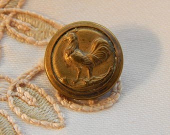 Rooster - Antique Picture Button