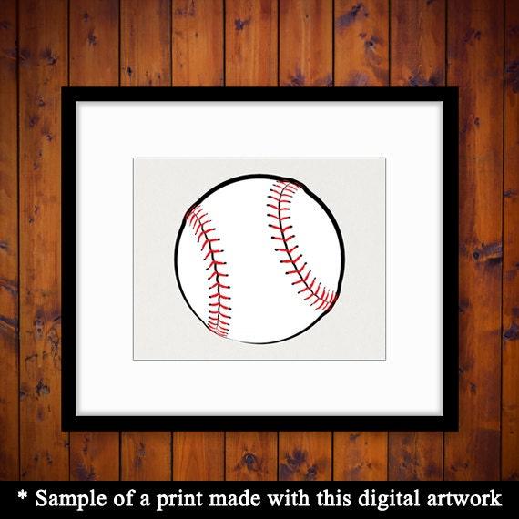 15% OFF coupon on Printable Baseball Art Sports Digital ...
