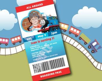 Digital File - Thomas the Train Birthday Invitation