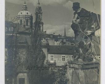 Prague Czech Republic view antique art photo Kopta