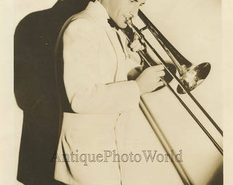 Larry Clinton trumpet player antique jazz music photo