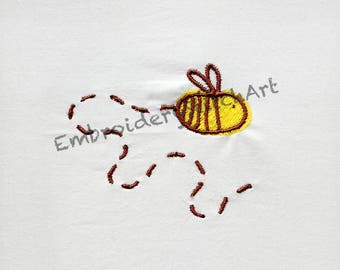 Bumble Bee Machine Embroidery Design Swamp of Bee Machine Embroidery Pattern Bee Patterns Bee Design Embroidery Insects Flower Yellow Brown