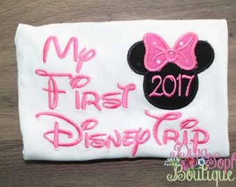 My First Disney Trip  Shirts /  Disney Shirts - Embroidered