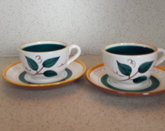 Pair of Stangl Cups and Saucers