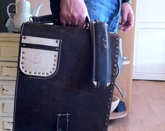 Vertical laptop bag | Etsy