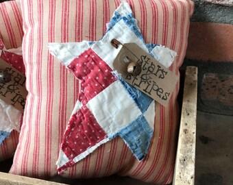 Primitive Stars & Stripes Pillow Bowl FIller