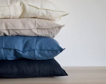 LINEN PILLOWCASES. Set of 2. From 100% washed linen. Soft and natural linens for your bedding.