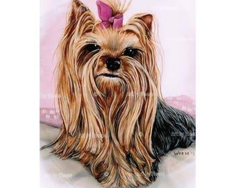 Yorkie - Yorkies - Yorkshire Terrier - Yorkie Art - Yorkshire Terrier Art - Yorkie Print - Dog Breeds - Pet Portrait - Dog Portraits