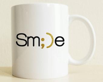 Smile Mug | Positive Gift | College Student | Girlfriend Gift | College Graduation Gift for Her | Coffee Mug | Gift for Him | Birthday Gift