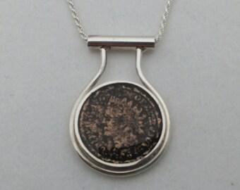 Sterling silver 18mm coin Bezel. Coin bezel. Handmade coin bezel.