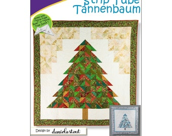 "Pattern ""Strip Tube Tannenbaum"" by Cozy Quilt Designs (CQD01169) Paper Pattern"