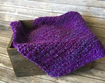 Newborn Photo Prop Blanket - Purple