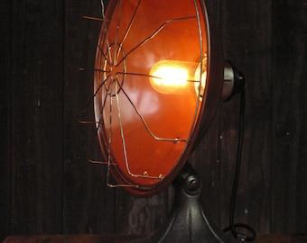 Vintage Industrial Re-purposed Copper Radiator Lamp