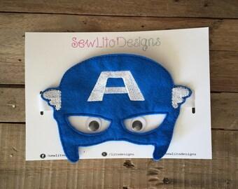 Captain America Marvel Super Hero Felt Mask