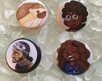 Original Art Buttons