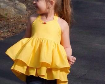 Belle top, beauty top . Yellow top
