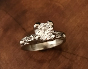 Moissanite Engagement Ring - Ready to Ship