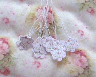 dollhouse nursery lamb baby  gift tags x 10  miniature 12th scale