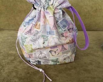 Stamp 1 To 2 Skein Reversible Drawstring Bag 4 Looks In 1 Bag