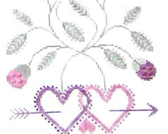 The Workbasket True Love Marriage Sampler Counted Cross Stitch Pattern Book Charted Design Rare Out Of Print Needlework Wedding Keepsake