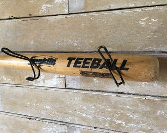 Wooden Vintage Baseball Bat Cap or Coat Rack Tee Ball Bat