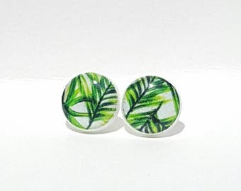 Palm Leaves Post Earrings|Palm Tree Earrings|Summer Earrings|Stud Earrings|Beach Earrings