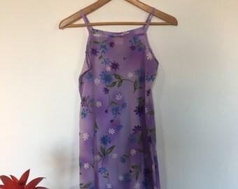 90s Grunge Floral Slip Dress